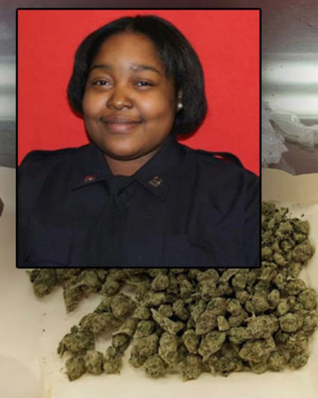 Marijuana found in Nicole Bartley's home (inset: Nicole Bartley)