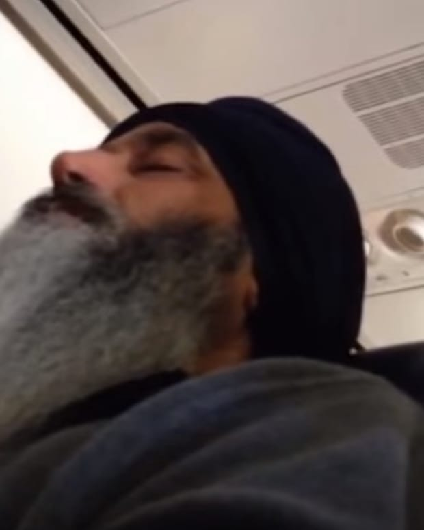 Dashan Singh On A Flight.