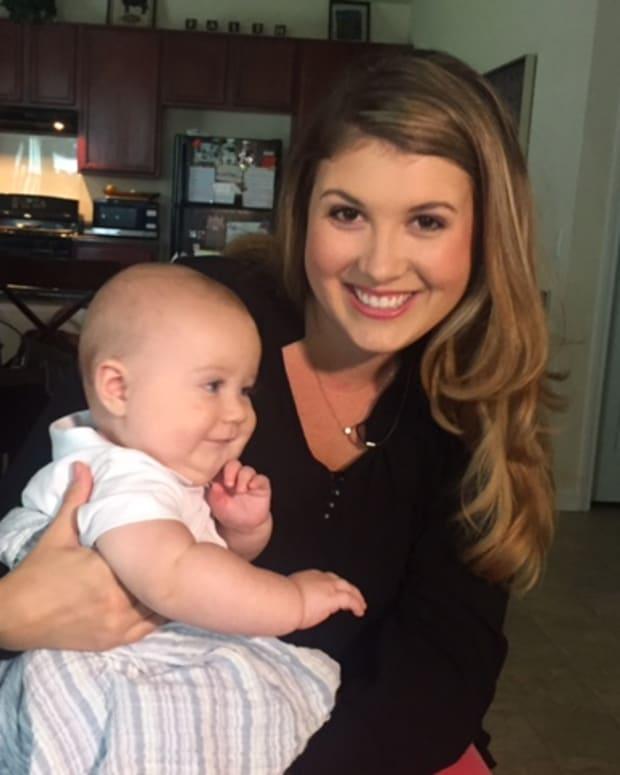 Caroline Hoffman and baby