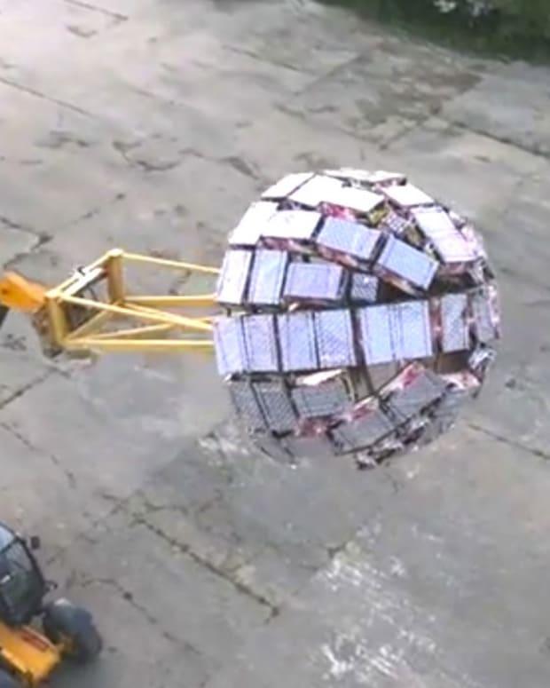 Deathstar Invention Sets Off 5,000 Fireworks (Video) Promo Image