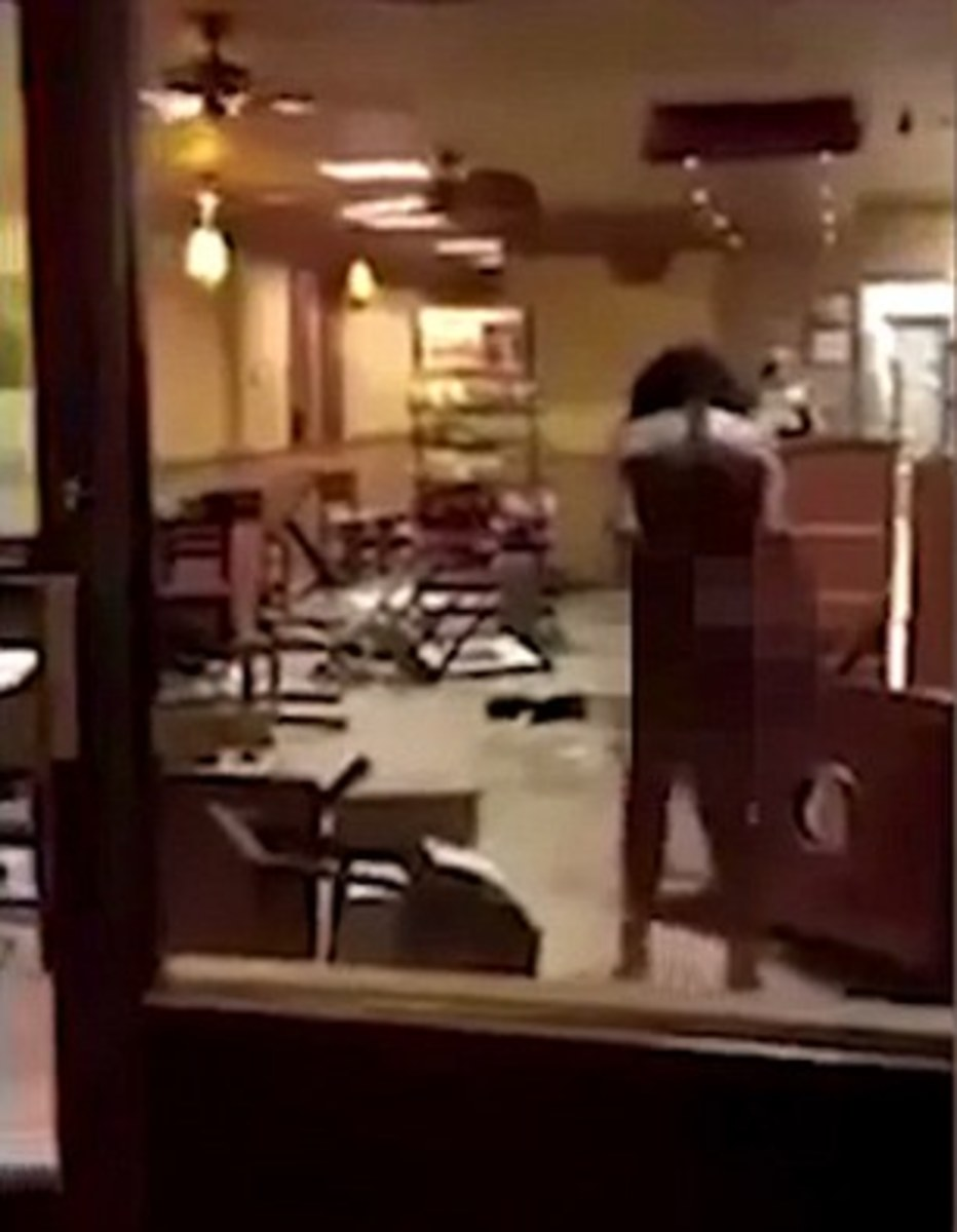 Naked Woman High On Spice Destroys Subway Sandwich Shop In