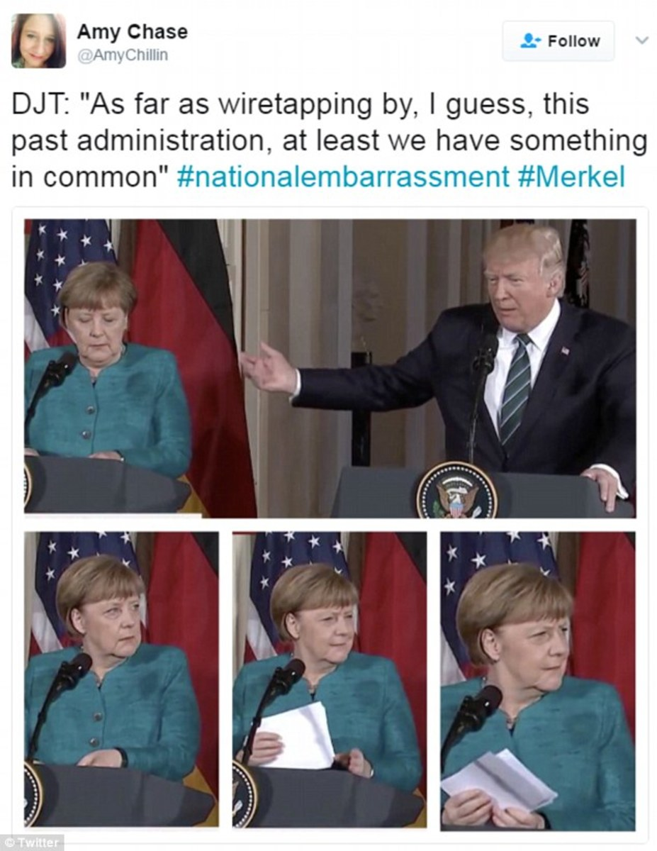 image placeholder title merkel rolls eyes at trump, memes are created (photos) opposing