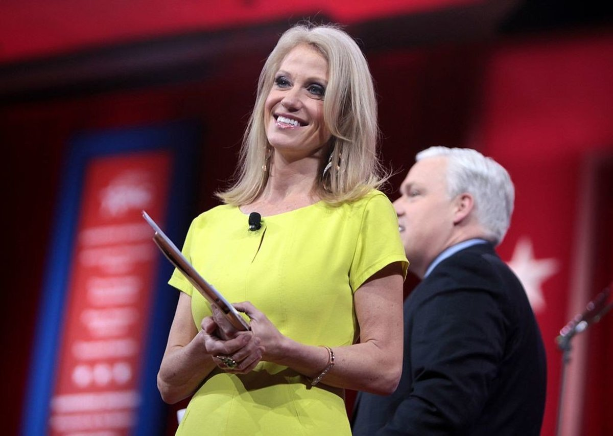 Kellyanne Conway Accused Of Breaking Law On TV Promo Image
