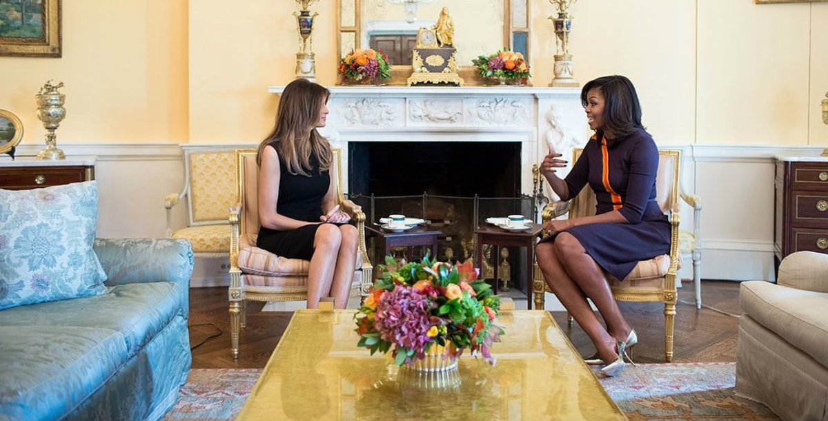 Melania's Shoes More Sensible Than Michelle Obama's (Photos) Promo Image