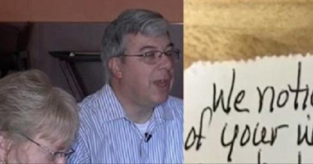 Restaurant Patron Sees How Man Is Treating His Wife, Hands Him This Note (Photo) Promo Image