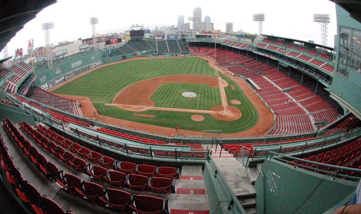 Protesters Hang Racism Sign In Fenway Park (Photo) Promo Image