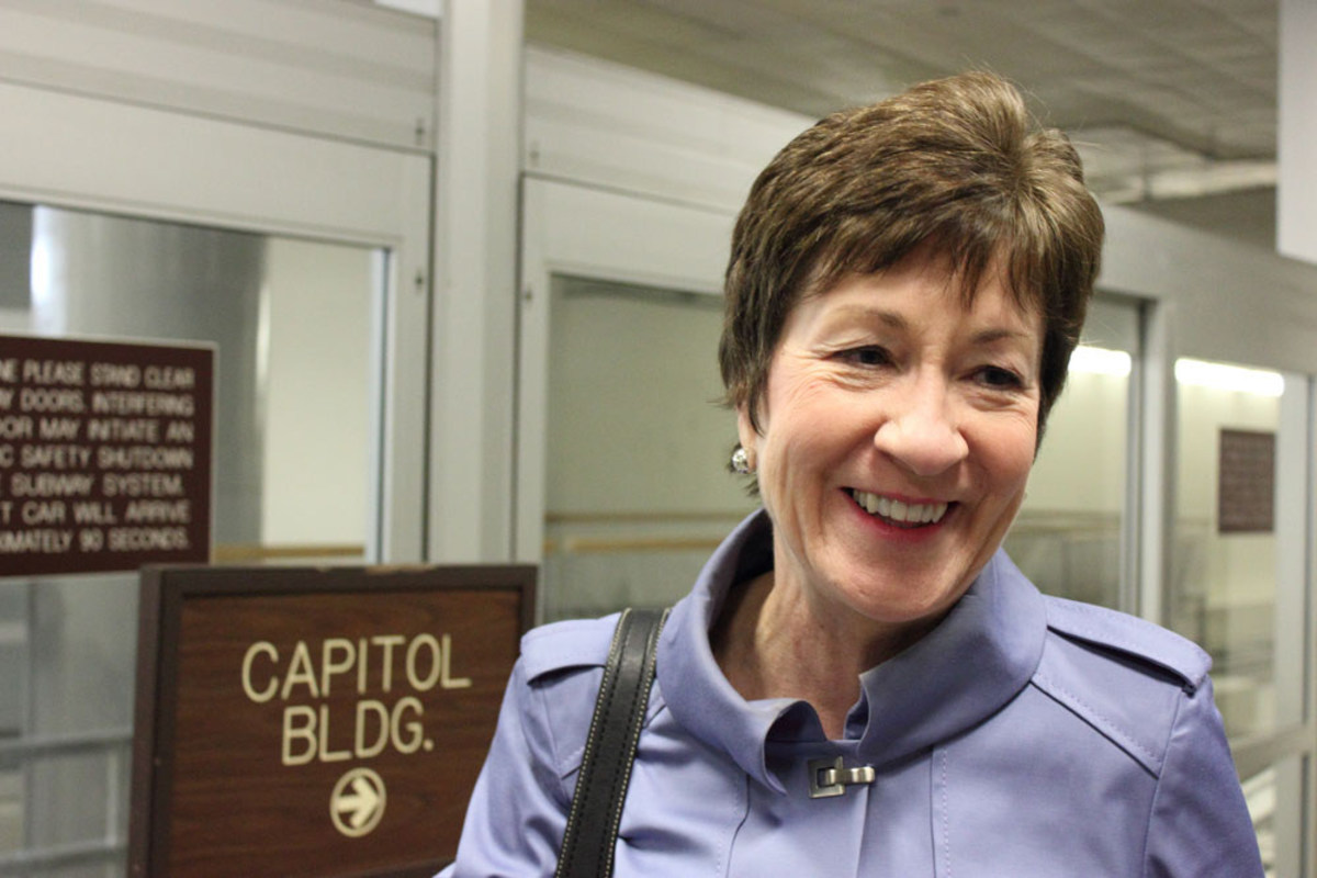 Susan Collins Applauded In Airport For Obamacare Vote Promo Image