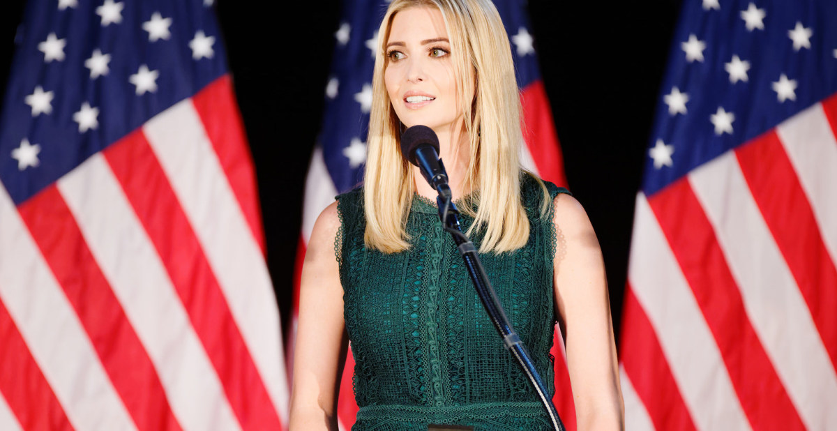 Ivanka Trump: 'I Try To Stay Out Of Politics' Promo Image