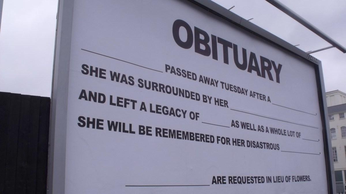 Scathing, Anonymous Obituary Causes Family Rift (Photos) Promo Image