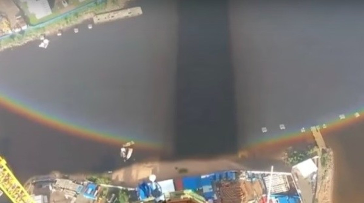 Construction Crew Notices Something Strange About Rainbow, Makes Unbelievable Discovery (Video) Promo Image