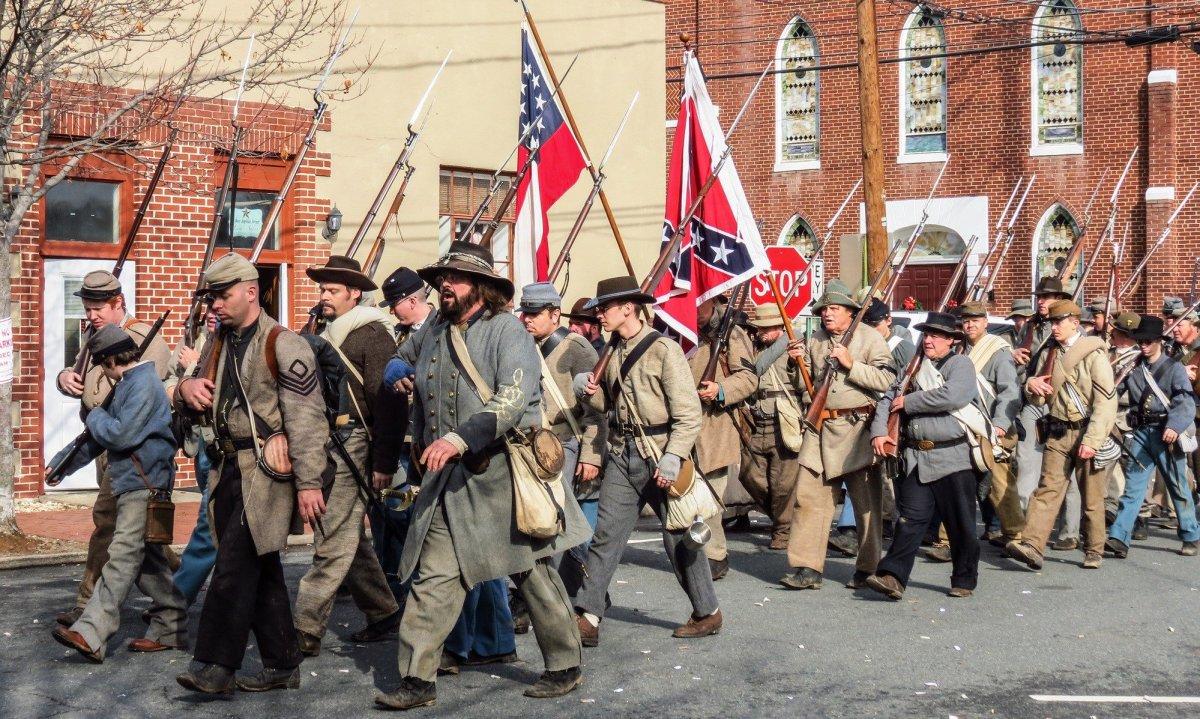 Civil War Re-Enactors Pepper-Sprayed During Parade Promo Image