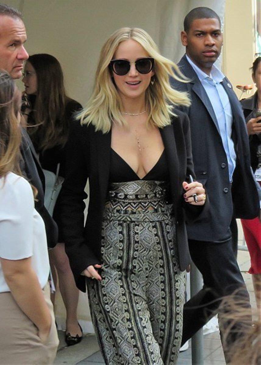 Jennifer Lawrence: I Would Throw A Martini At Trump Promo Image