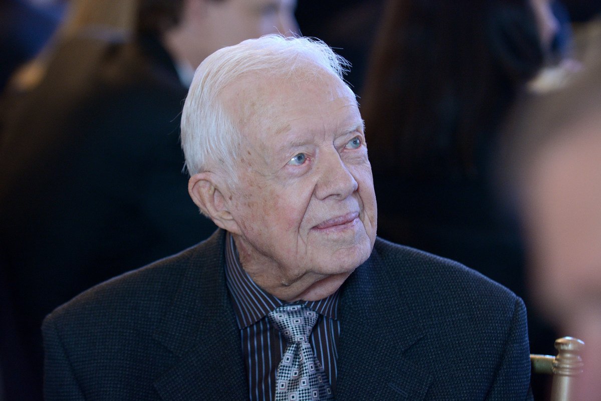 Jimmy Carter Heads Back To Work After Hospital Stay Promo Image