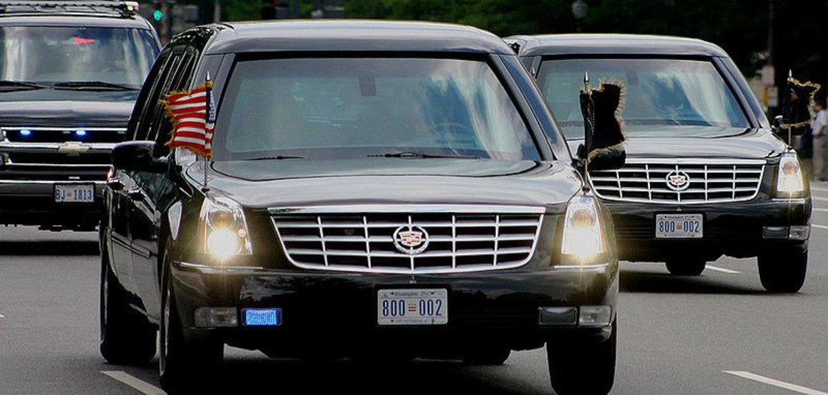 Car Nearly Hits Trump's Motorcade (Video) Promo Image