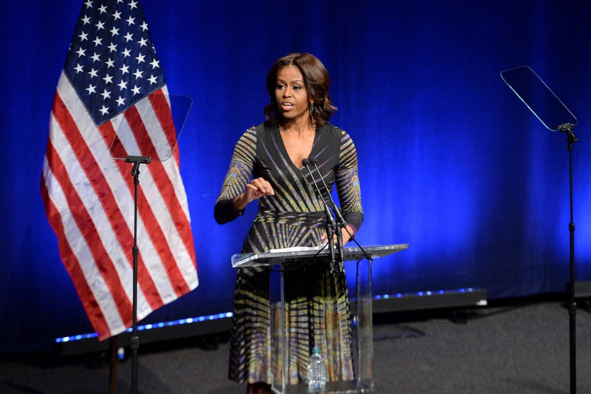 Michelle Obama Blasts Trump's Message To Youth Promo Image