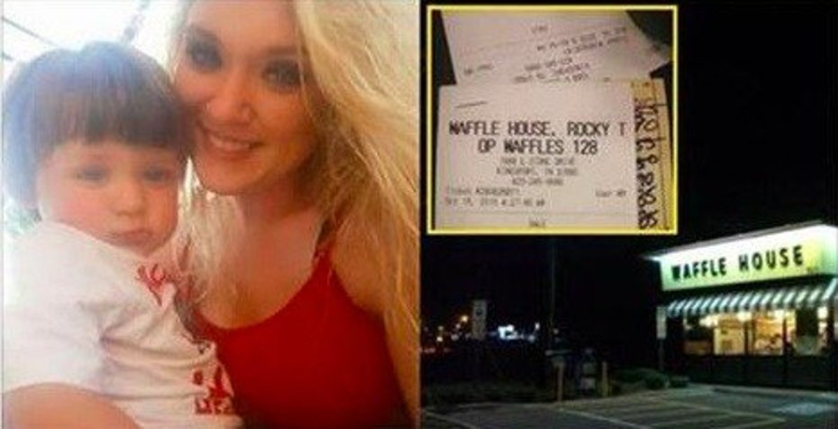 Waffle House Waitress Picks Up Shift For Extra Money, Man's Tip Leaves Her 'Sick' Promo Image
