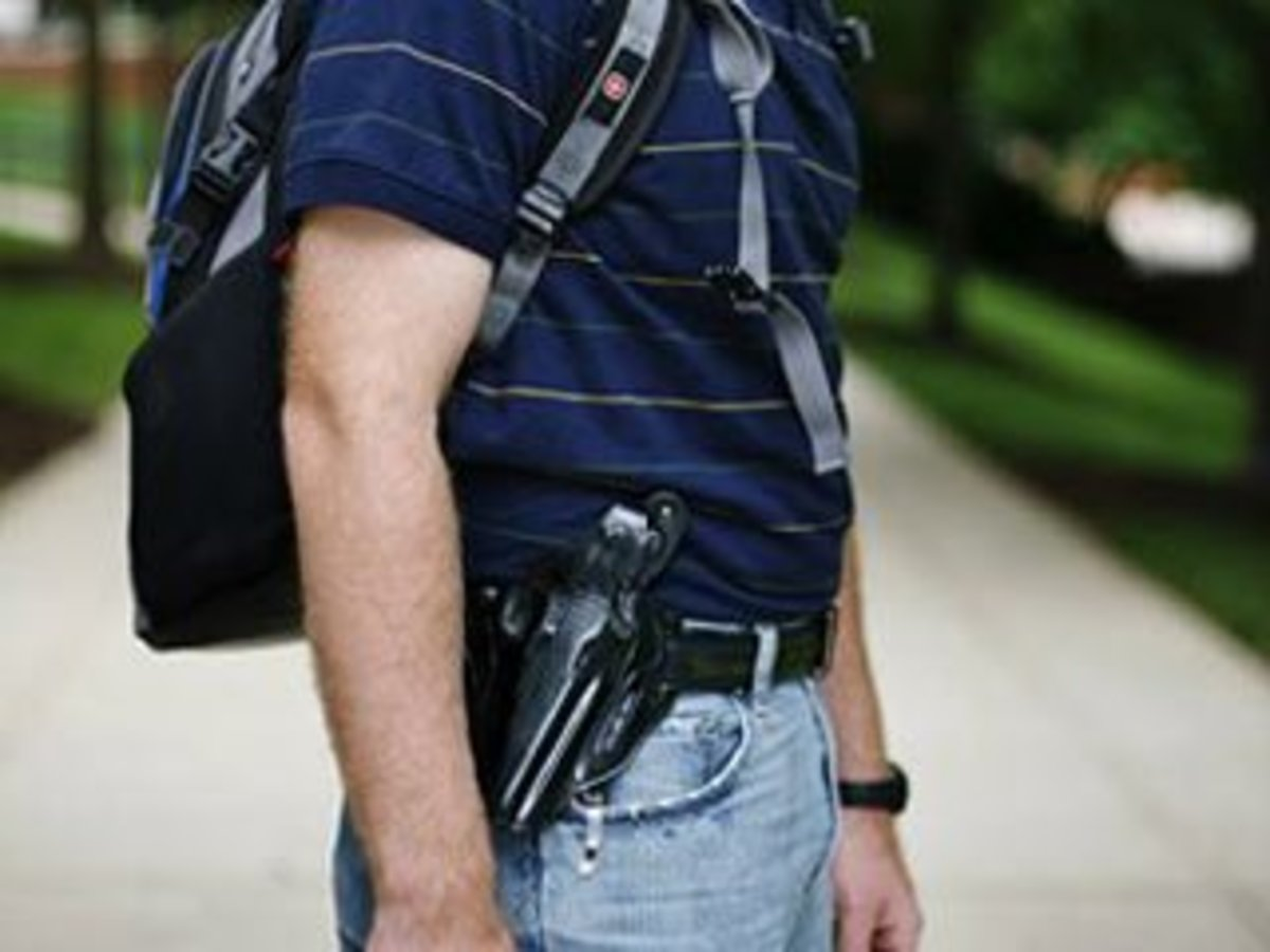 gun control on college campuses The authors identified several factors unique to the topics of public safety and gun carrying on college campuses, including: brain and cognitive development in adolescence and emerging adulthood, onset of mental illness and youth suicide in teens and young adults, and alcohol on college campuses.