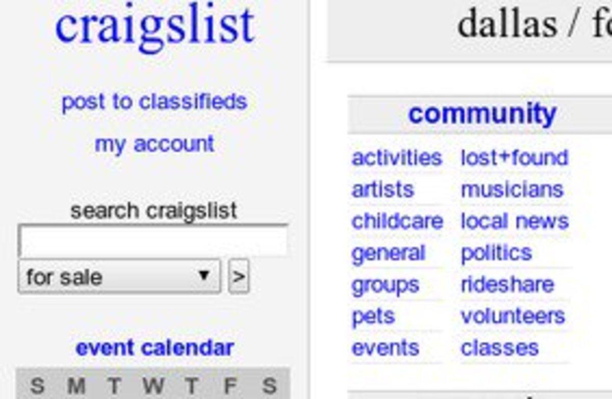 Craigslist Backpage Dallas