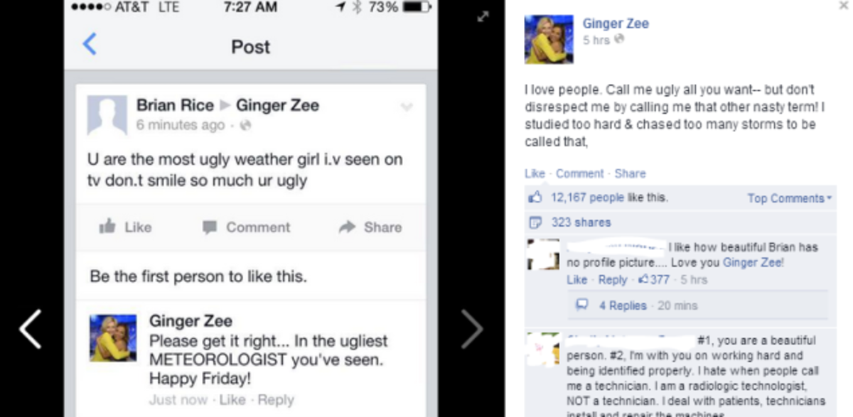 foto de Zee s Comeback to Being Called An Ugly Weather Girl Put This Critic in His Place