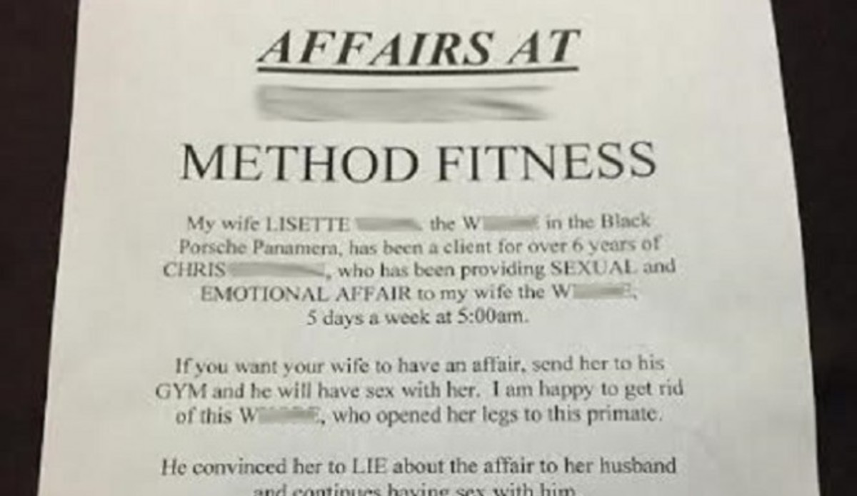 Man Publicly Shames Wife For Cheating On Him With Fitness