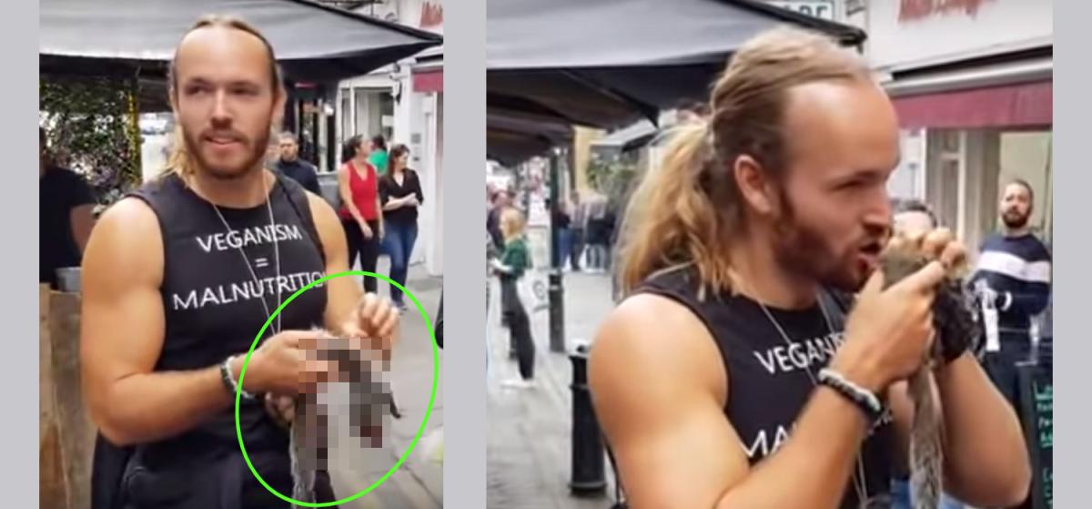 Vegan-Protestor