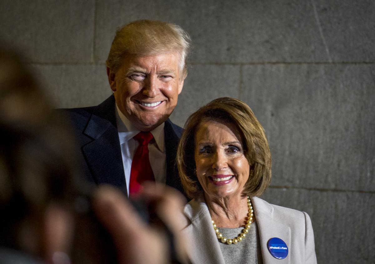 President-elect-Donald-J-Trump-and-House-Minority-Leader-Nancy-Pelosi-January-20-2017